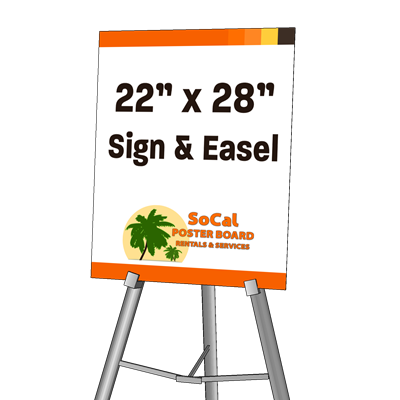 """22"""" x 28"""" Sign and Easel"""