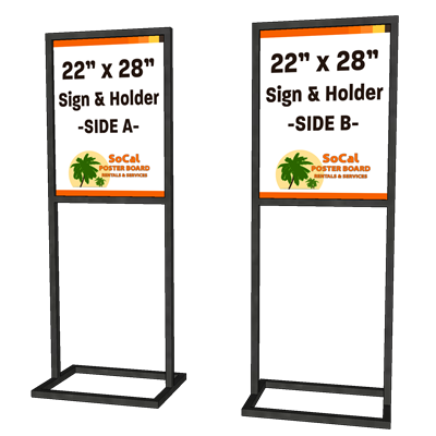 """22"""" x 28"""" Sign and Holder"""
