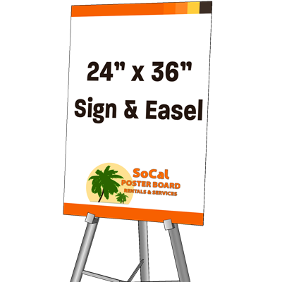 """24"""" x 36"""" Sign and Easel"""