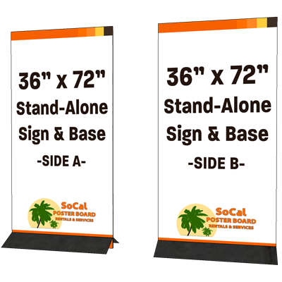 """36"""" x 72"""" Stand-alone Sign and Base"""