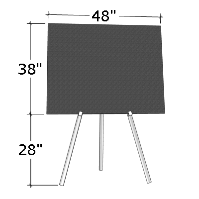 """38"""" x 48"""" Poster Board on Easel"""