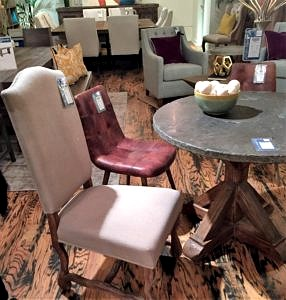 """42"""" Round Table with Bluestone top"""