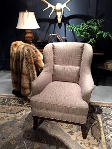 Best upholstered Hickory White armchair