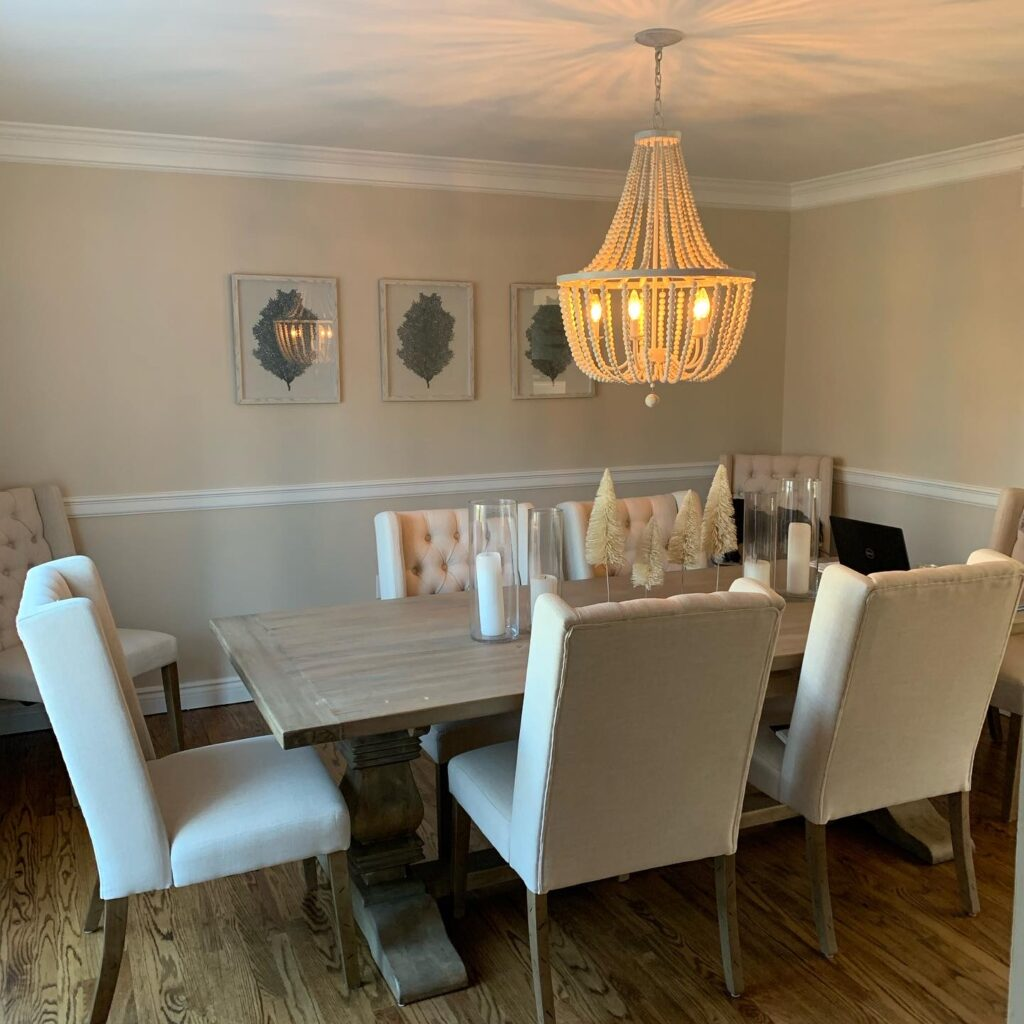 British Cottage, Dining room table, Trestle table