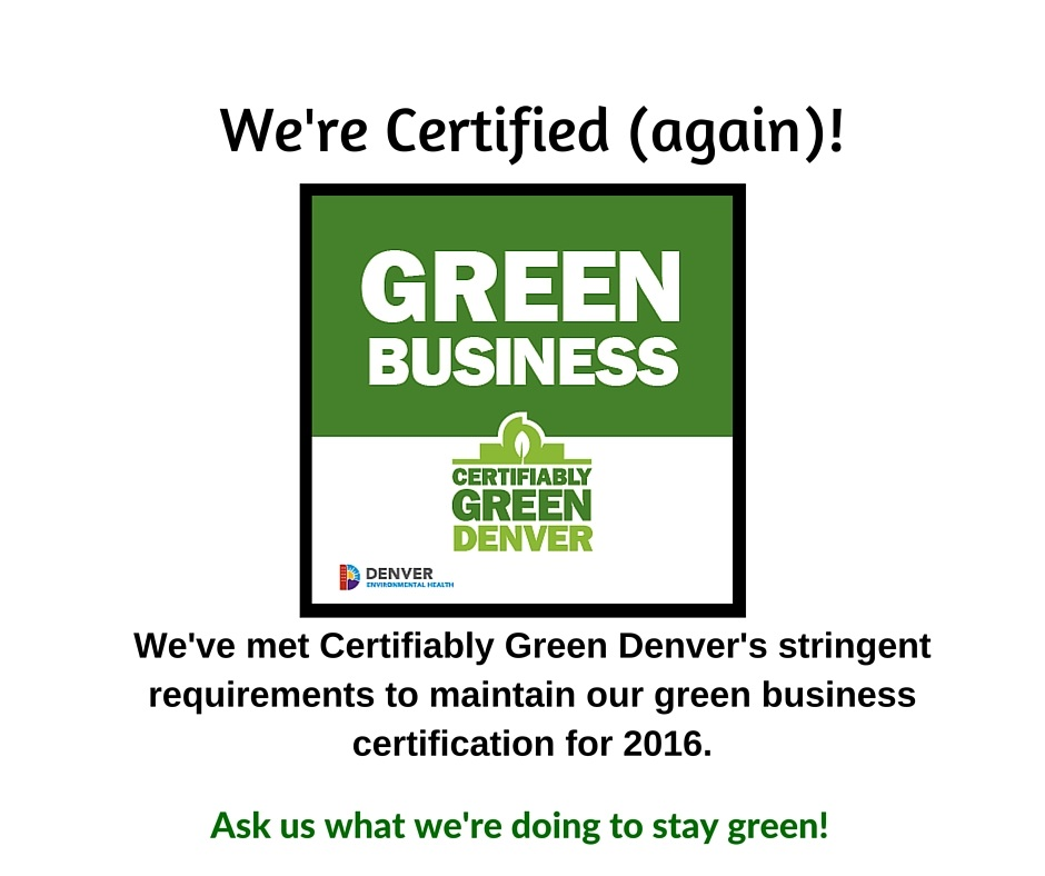 Living Our Mission & Staying Green