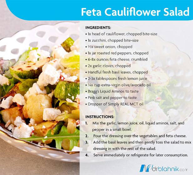 Feta Cauliflower Salad