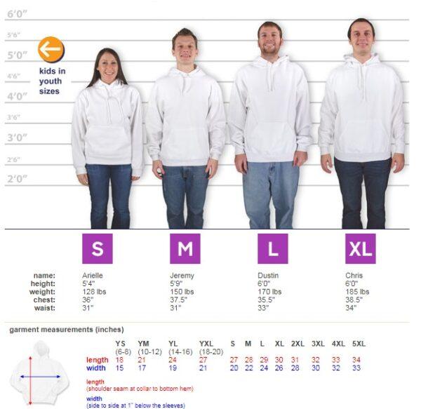 Jerzee Size Chart