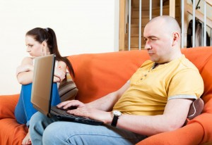 ignoring wife