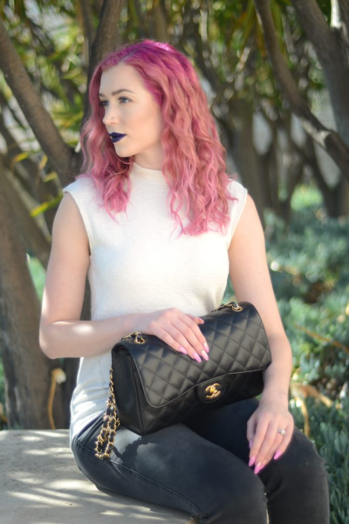 How to Wear Bold Lipstick in 3 Easy Steps with Los Angeles Cruelty-Free Beauty Blogger, Emily Wolf Beauty.