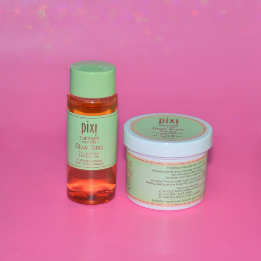 Los Angeles Cruelty-Free Beauty Blogger, Emily Wolf Beauty shares her full nighttime skin care routine with a list of products she uses. pixi glow tonic and glow tonic to-go