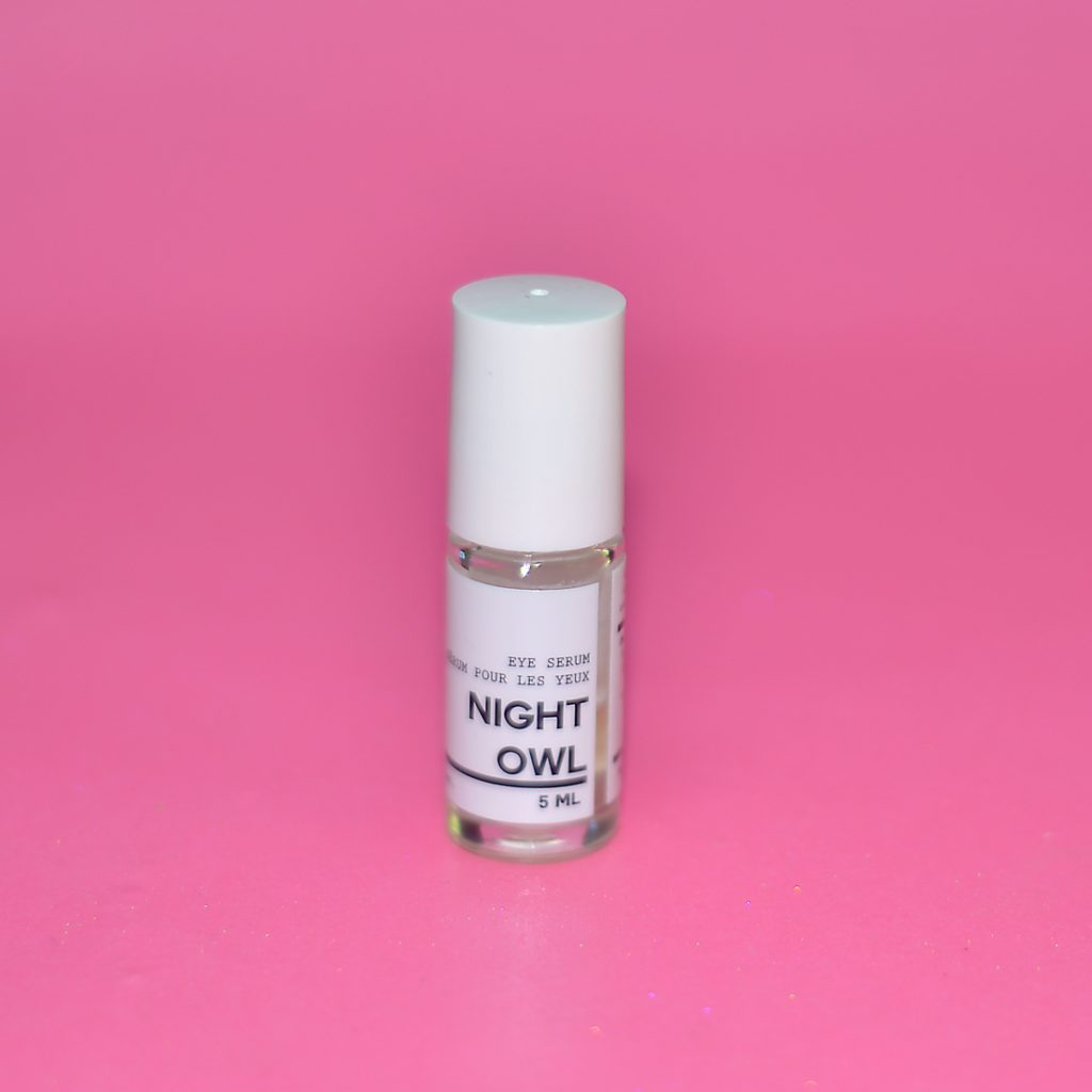 Los Angeles Cruelty-Free Beauty Blogger, Emily Wolf Beauty shares her full nighttime skin care routine with a list of products she uses. here and now botanicals night owl eye serum