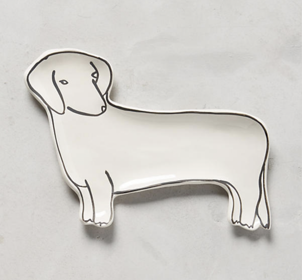 anthropologie dachshund trinket dish