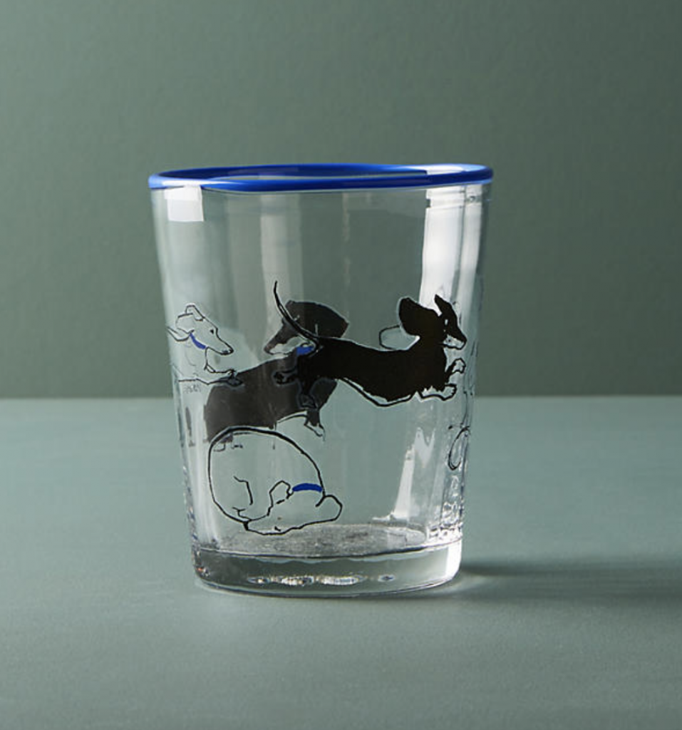 anthropologie dachshund juice glass