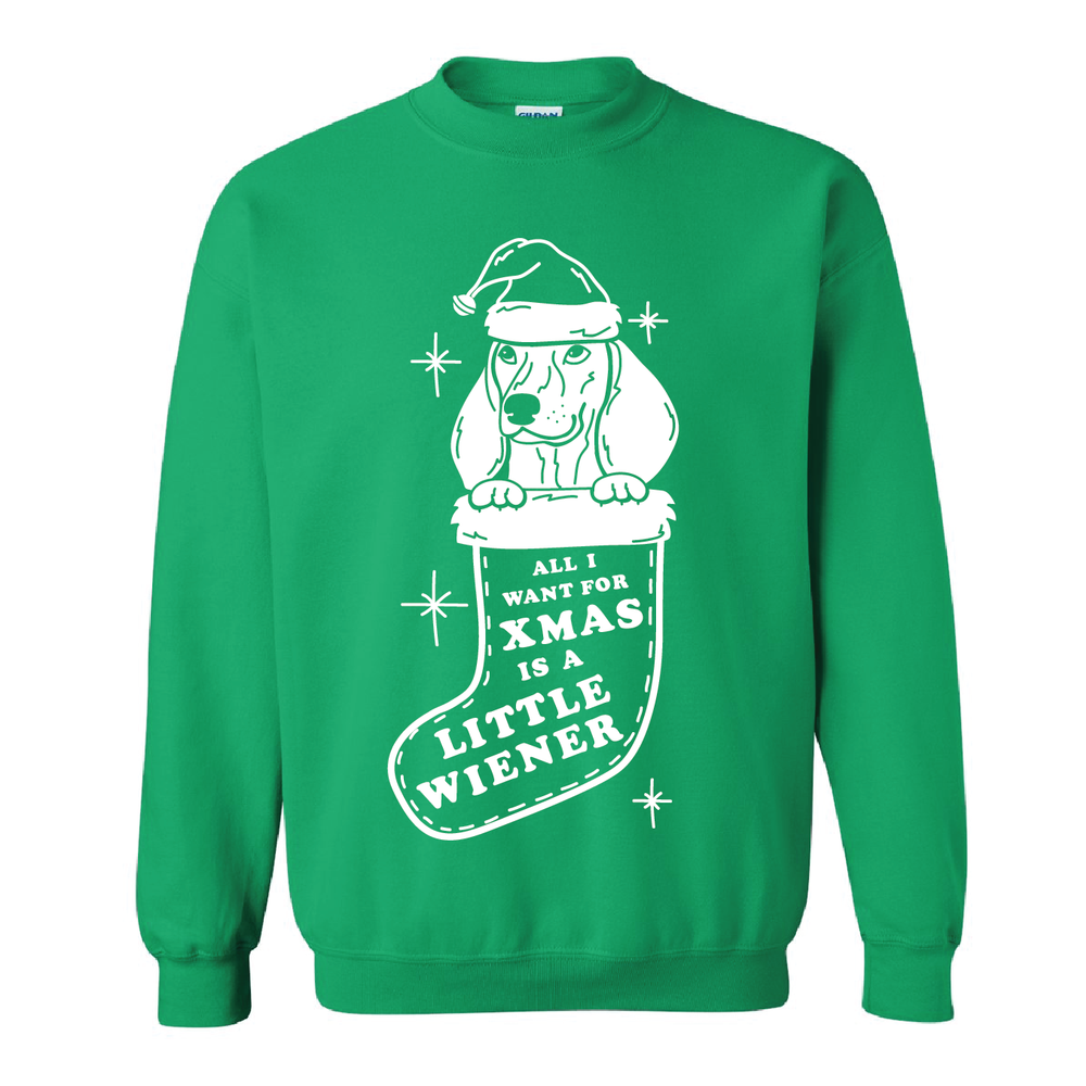 beangoods all I want for xmas sweatshirt