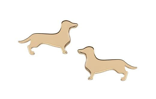 banana republic dachshund stud earrings