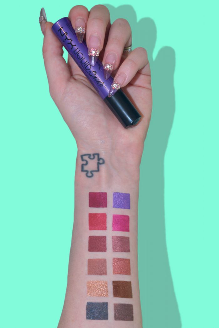 Review of NYX Liquid Suede Metallic Matte Lipsticks