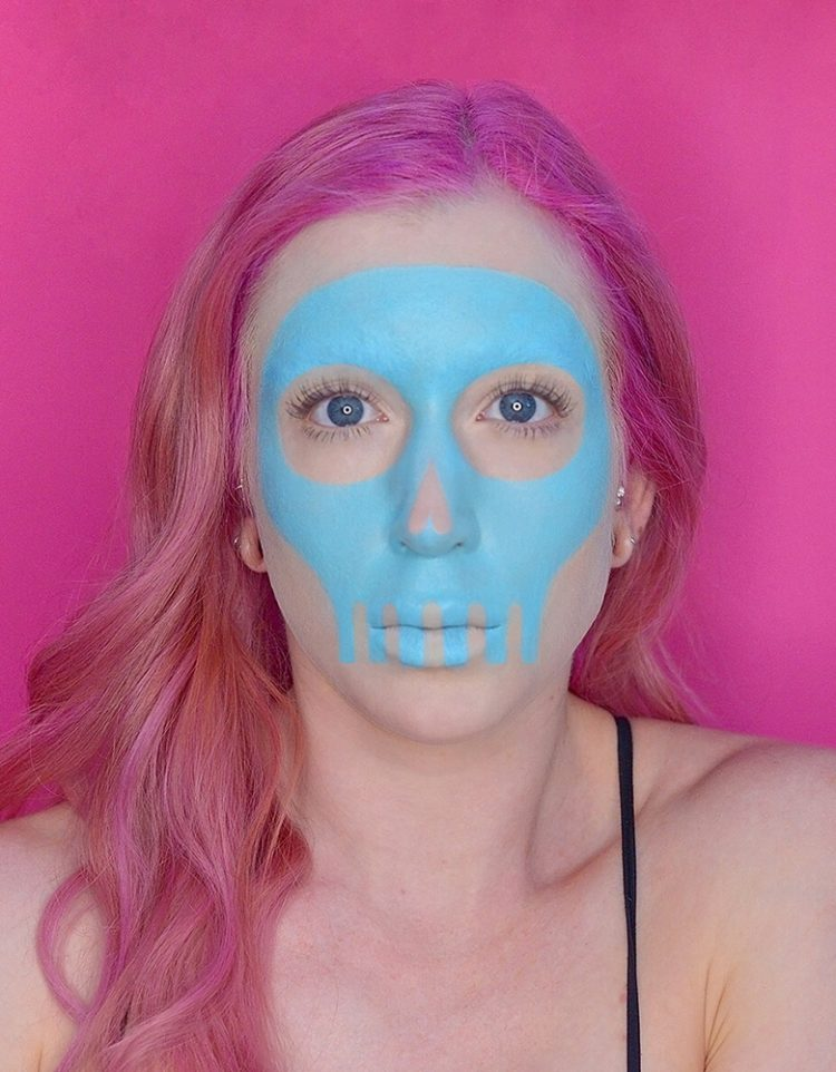 skull halloween makeup tutorial with wet n wild paint palette