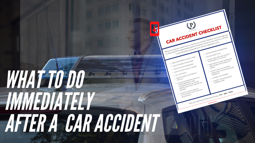 car accident checklist graphic