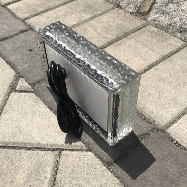 outdoor glass paver light