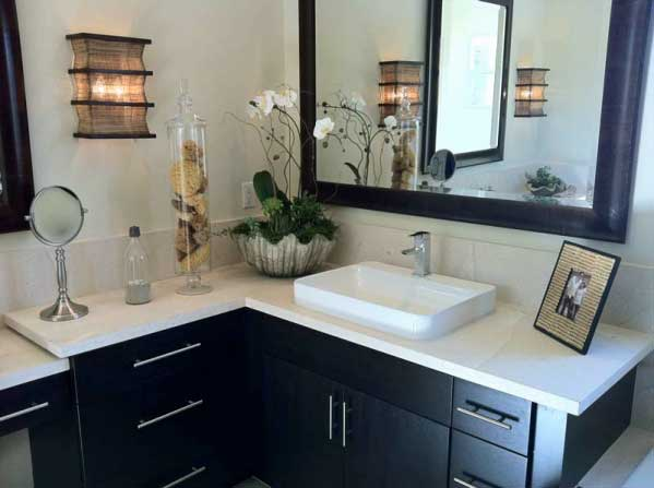 """New Cultured Marble Countertop with """"True"""" Rectangular Molded-in Sink"""