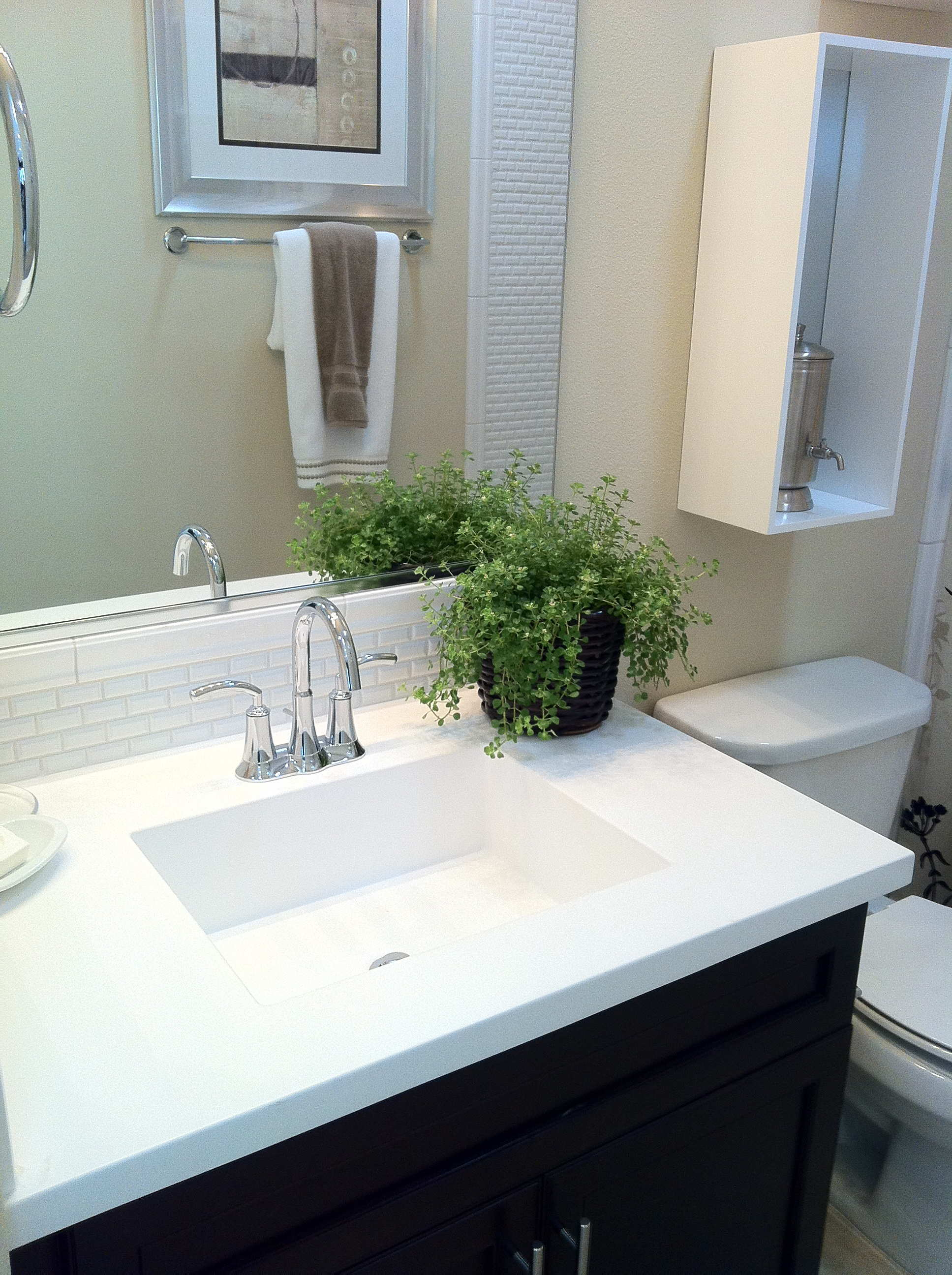 Square Cultured Sink-LOW