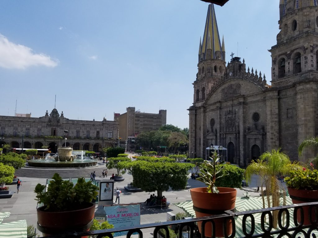 View of The Guadalajara Cathedral or Cathedral of the Assumption of Our Lady