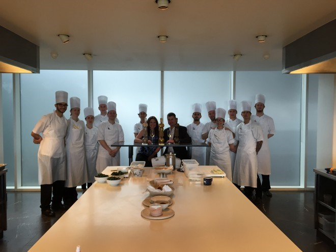 In the kitchen with the chefs at Geranium- Copenhagen, Denmark
