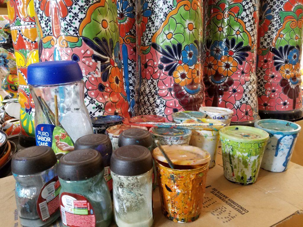 Paint for ceramics in Dolores Hidalgo, Mexico