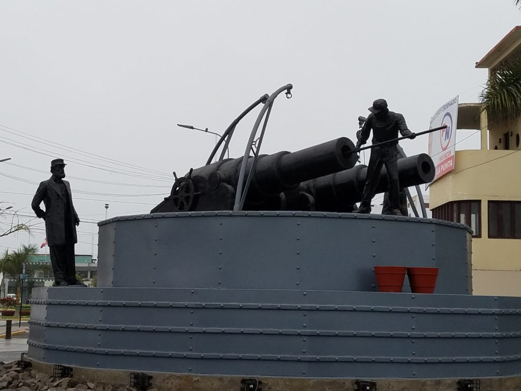 Monument commemorating the War of the Pacific 1881 in Callao, Peru