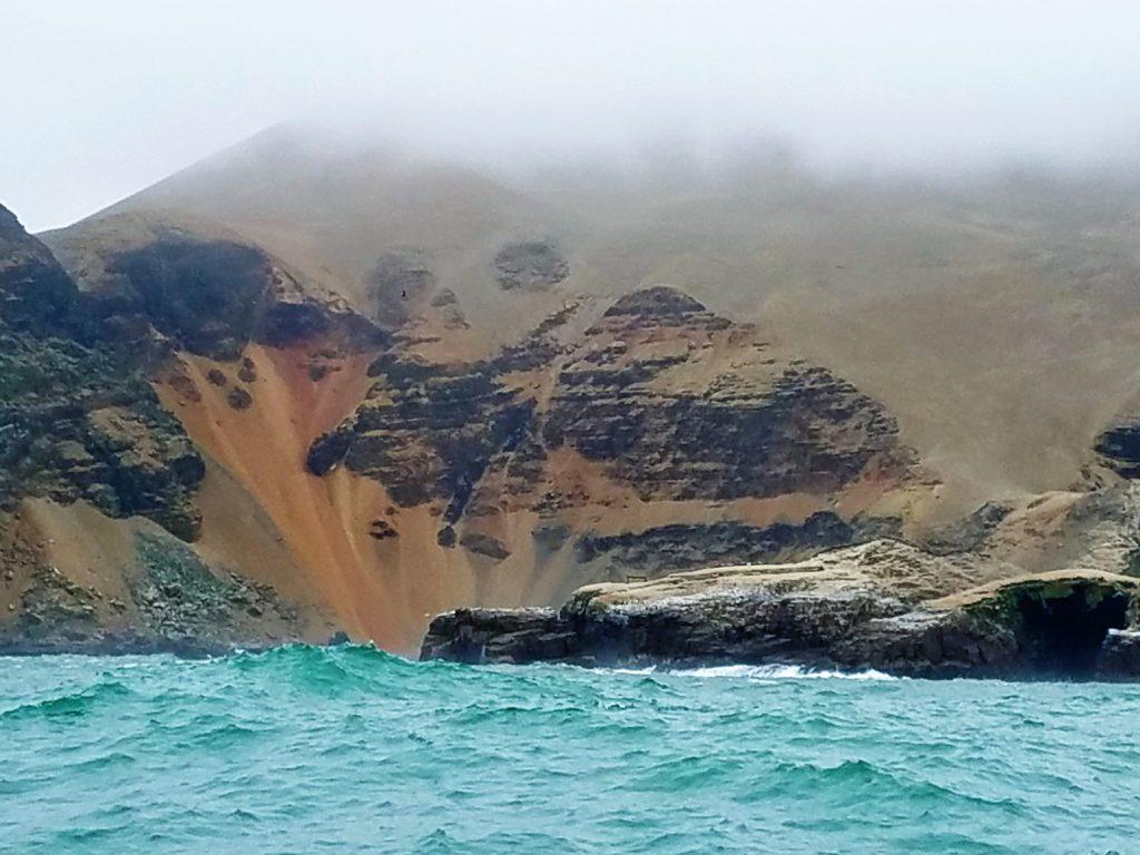 Barren island off Lima Peru