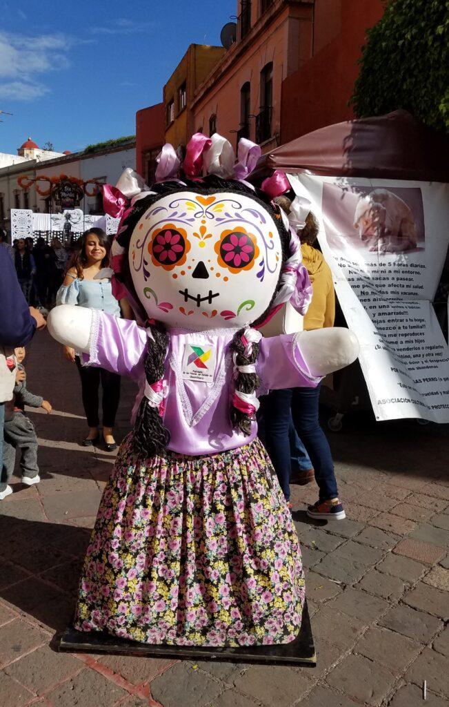 "Maria or ""lele"" doll dressed for Dia de los Muertos"