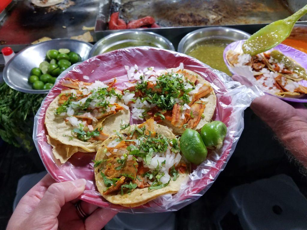 Street food in Mexico: Tacos al pastor
