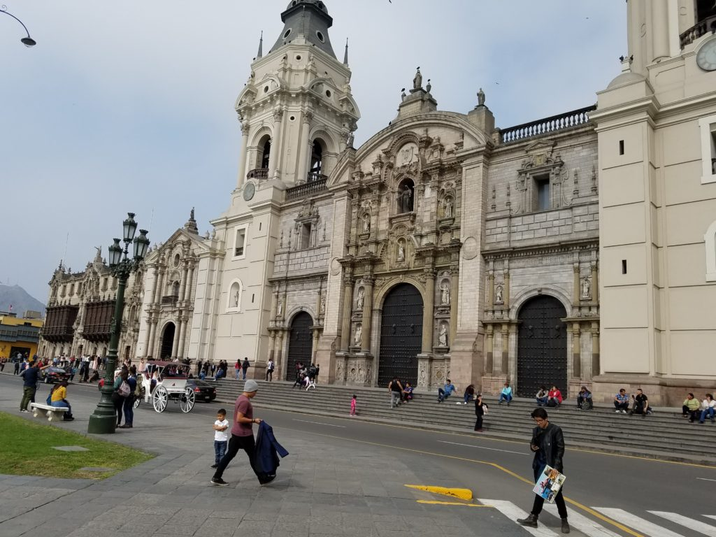 In Plaza Mayor, Lima