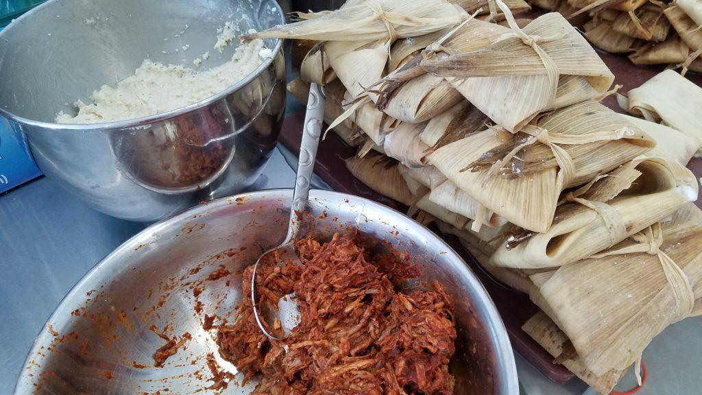 Masa, pork and tamales