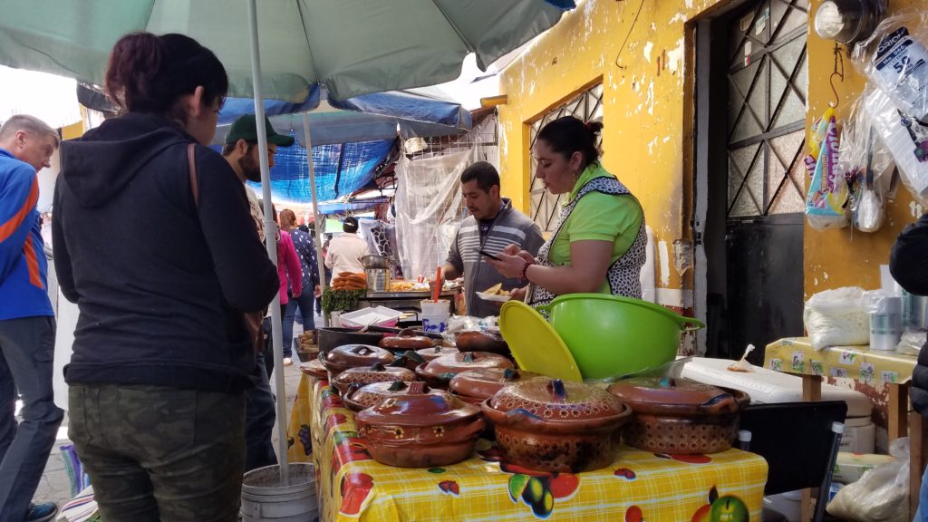 Food vendor in Santa Rosa Jauregui
