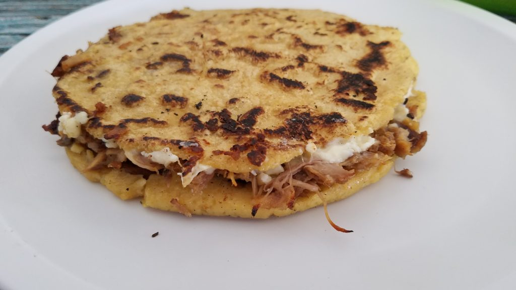 Carnita and cheese gordita