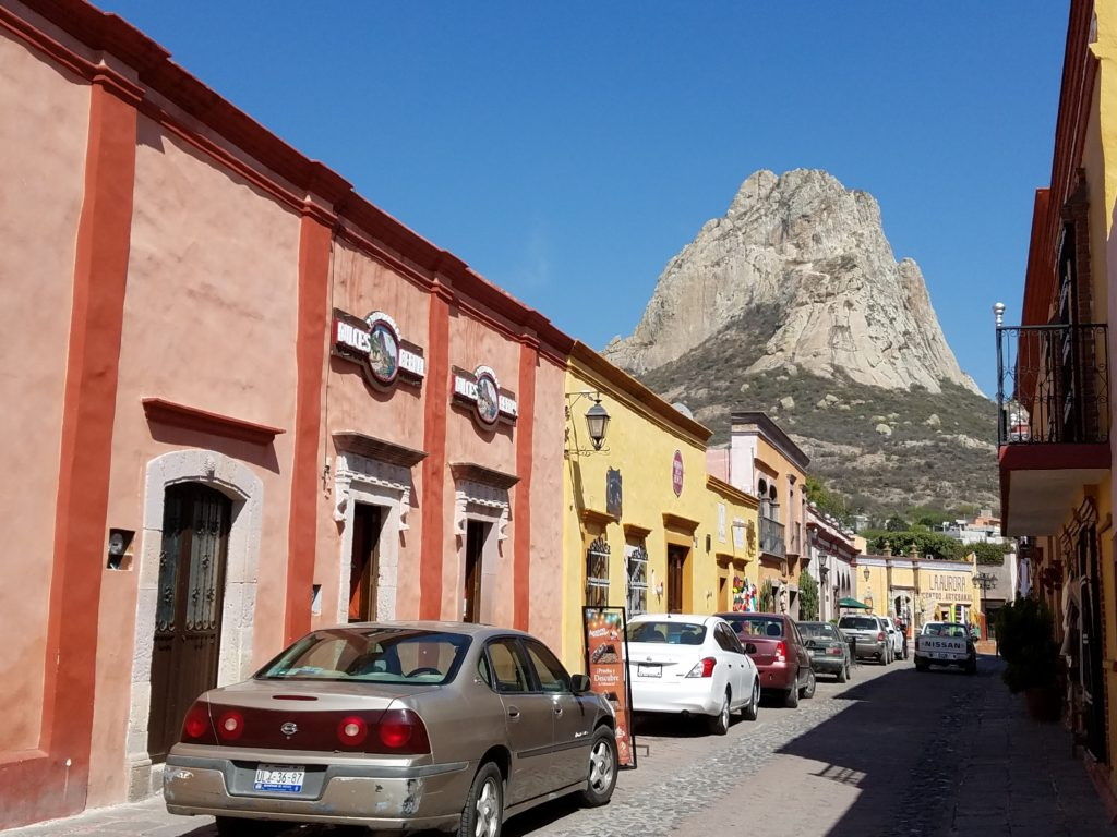 A street view of Pena de Bernal, Mexico
