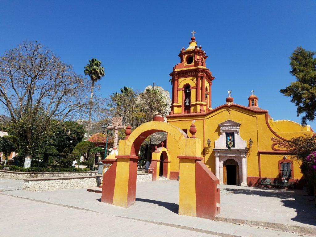 Parroquia de San Sebastian in Bernal, Mexico