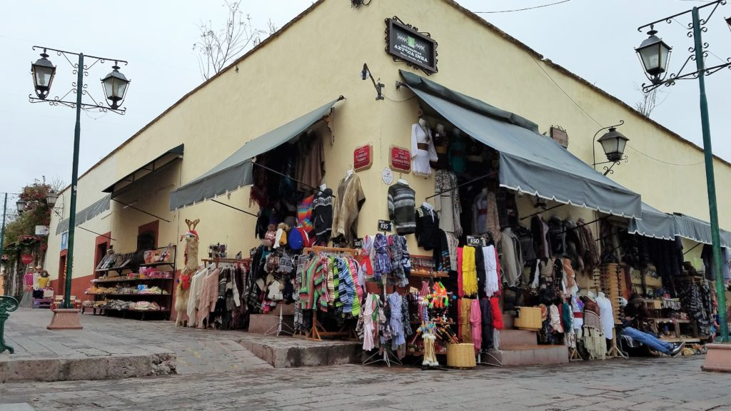 Llama wool clothing shop in Bernal, Mexico