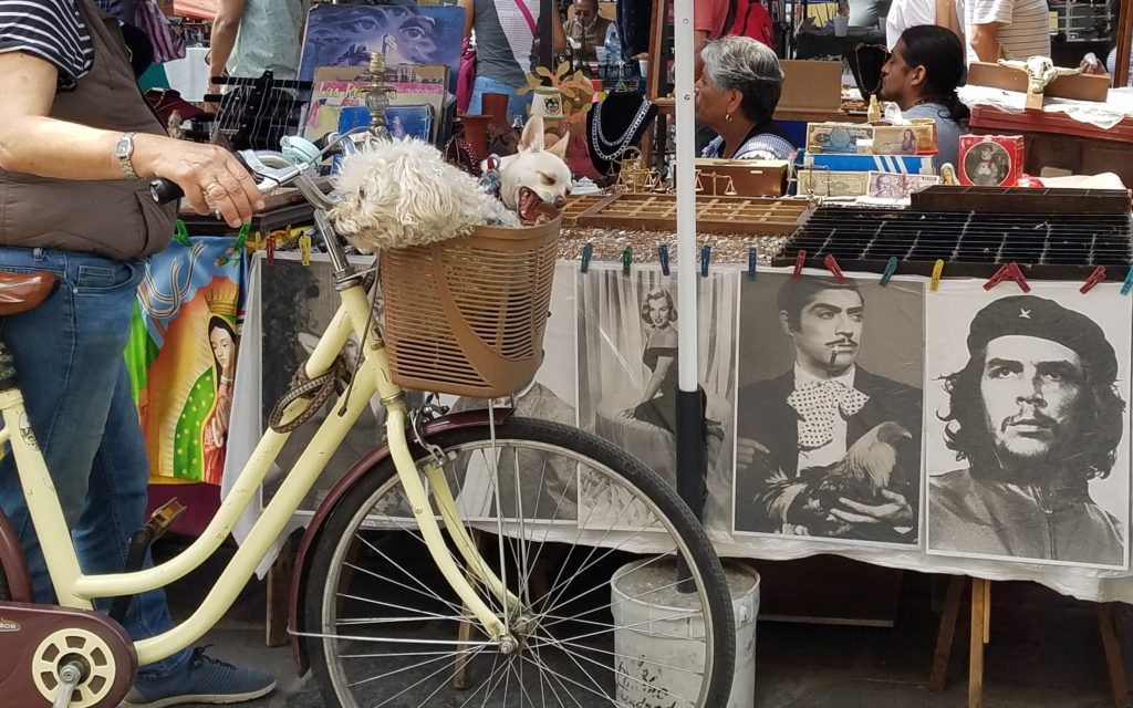 Tianguis or street market in Los Sapos, Puebla