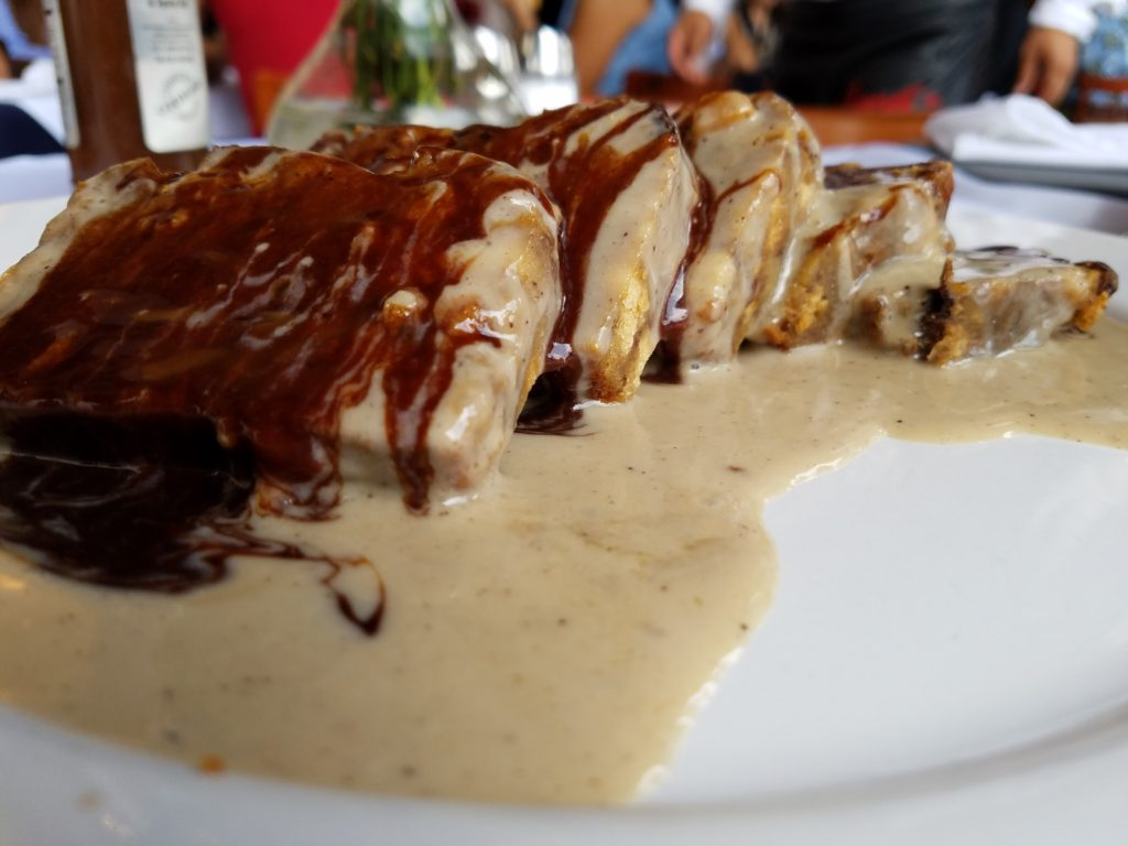 Spiced bread pudding at Hank's by Plaza Constitucion, a Centro restaurant