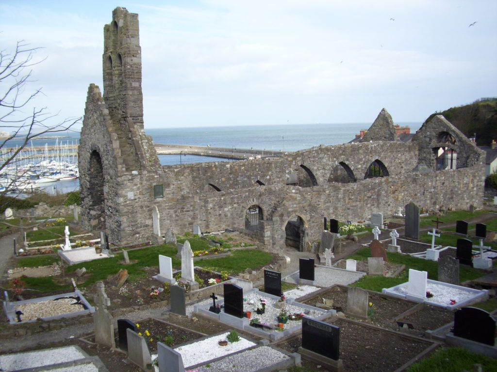 St. Mary's Abbey and graveyard, Howth, Ireland