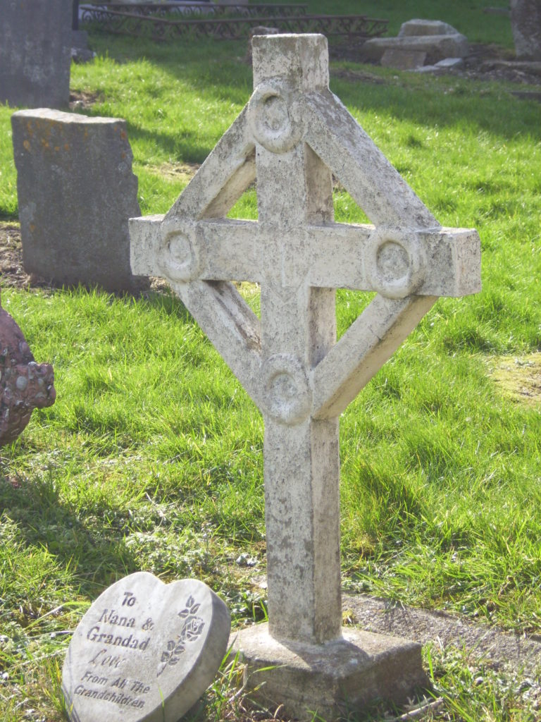 Gravestone in St. Mary's Abbey, Howth, Ireland