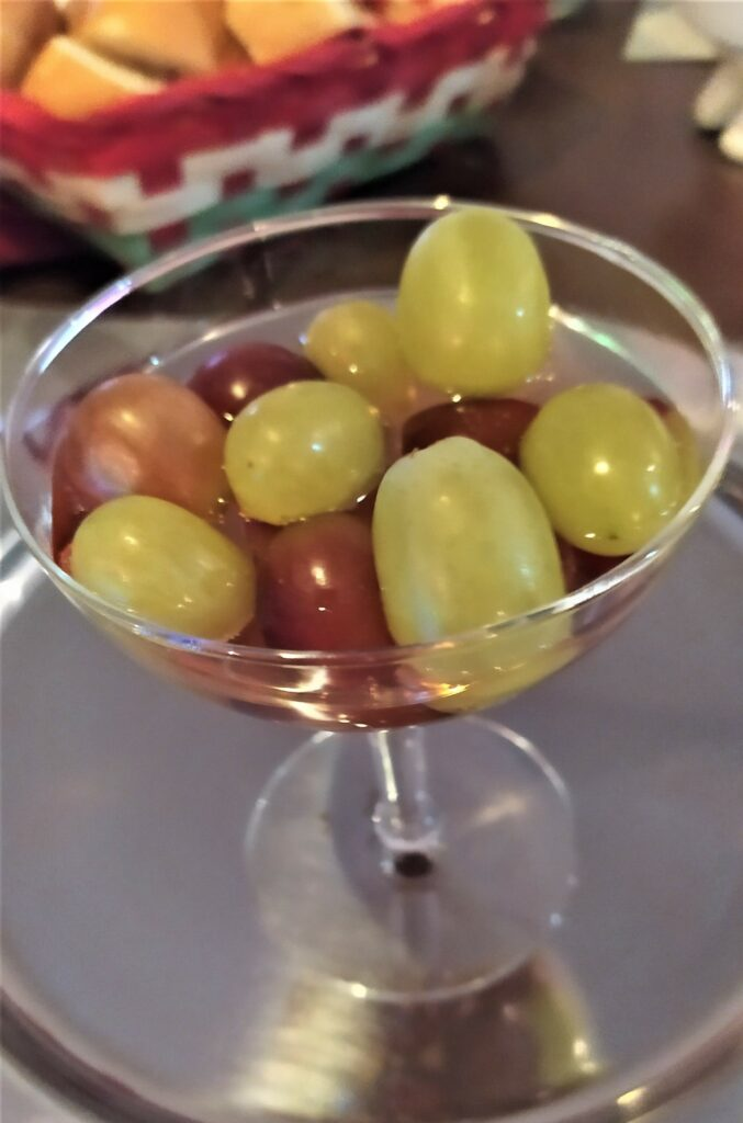 12 grapes in a glass for New Year's Eve