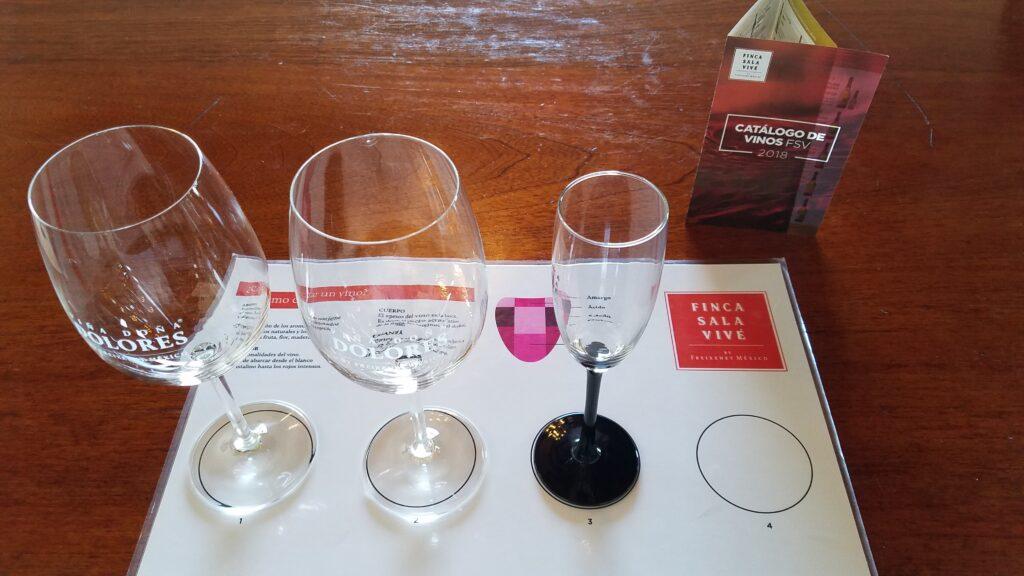 Queretaro wineries: Freixenet tasting mat