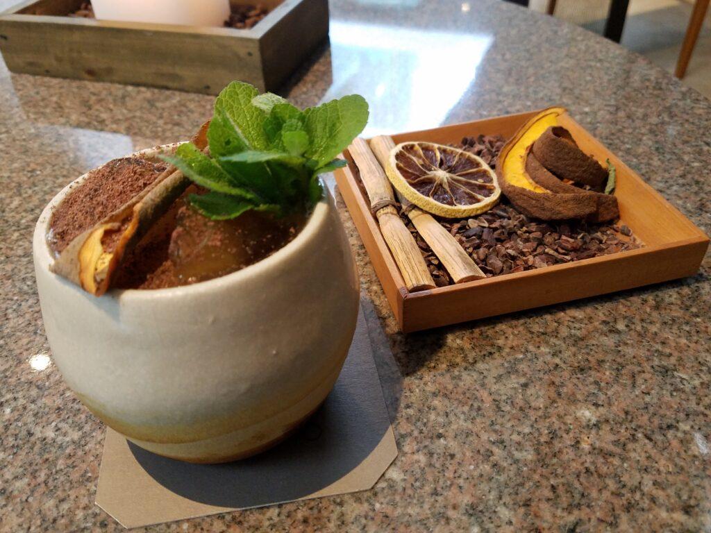 Chocolate drink at Mayo Bar, Lima