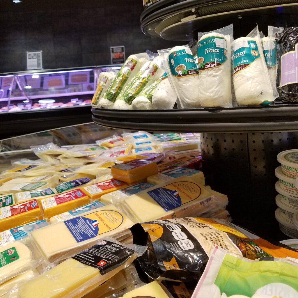 Cheese Selection at City Market, Mexico