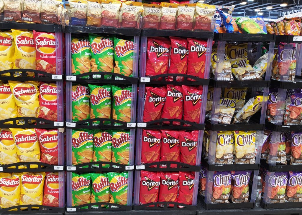 Potato chips at a grocery store in Mexico