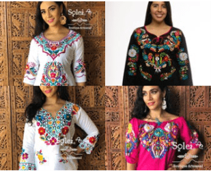 Mexican Blouses on Etsy