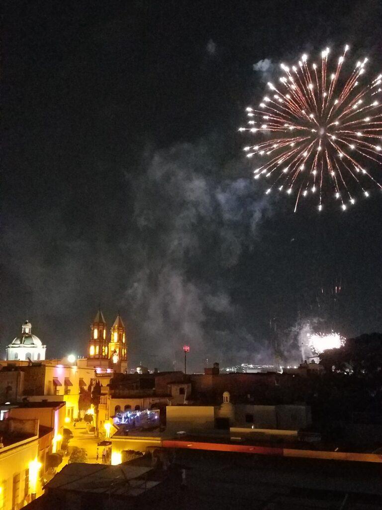 Fireworks over Queretaro, Mexico